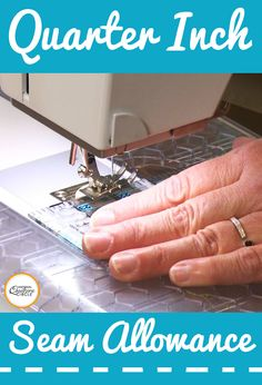 Consistently stitching an accurate quarter inch seam allowance can be difficult. Heather Thomas shows you a fun tip on how you can use a thick, sticky-backed product on your machine to mark a quarter inch seam allowance and help you stitch it with accuracy and ease.