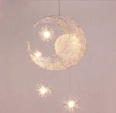 Moon & Star Children Kid Child Bedroom Pendant Lamp Chandelier ...
