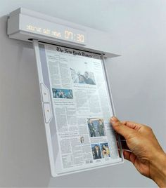 Coolest Latest News - Newspaper of the future Nowadays people try to find alternatives to using paper and they come up with interesting solutions. We already saw the eRoll in this article and tablets like iPad are made in a lot of variations today but Seon-Keun Park and Byung-Min Woo came with a different idea. #thatseasier #future #news