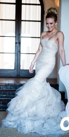 Hilary Duff in a beautiful wedding dress