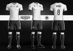 German Soccer Kit Uniform Template Adidas