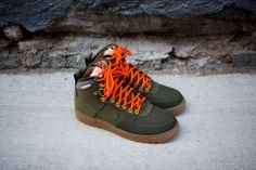 NIKE Air Force 1 Hi Duckboot - Dark Loden / Orange | Sneaker | Kith NYC