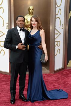 Chiwetel Ejiofor and Sari Mercer | 2014 Oscars, 86th Academy Awards Red Carpet