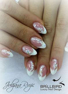 Wedding nails BrillBird Do You Want Your Children to Be Like You? Funky Nail Art, Cute Nail Art, Beautiful Nail Art, Cute Nails, Pretty Nails, Girls Nail Designs, French Tip Nail Designs, Nail Polish Designs, Glitter French Nails