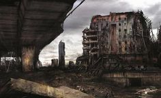 City in ruins: Nightmarish vision of Manchester in post-apocalyptic future on display at Salford university | Mancunian Matters