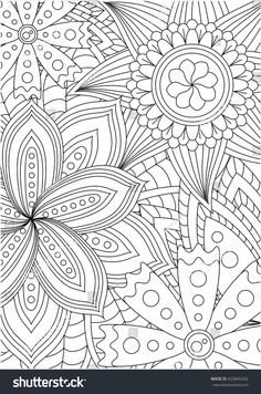 Black and white pattern for adult coloring book. Vector elements for design. Good for design of wrapping and textile. Emoji Coloring Pages, Pattern Coloring Pages, Free Adult Coloring Pages, Mandala Coloring Pages, Coloring Pages To Print, Free Printable Coloring Pages, Colouring Pages, Coloring Sheets, Coloring Books