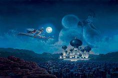 """Flight Over Agrabah"" by Rodel Gonzalez | Disney Fine Art | Disney's Aladdin"