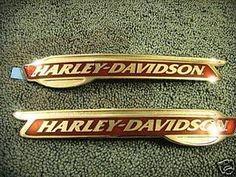 Harley Davidson Gas Tank Emblems Badge Big V 1955 1956 Panhead RARE