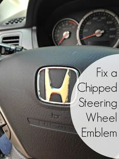 Fixing a Chipped Steering Wheel Emblem -- Make Do and Mend
