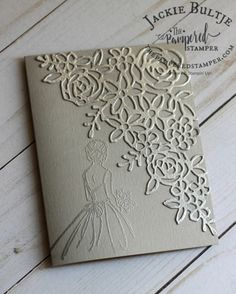 Springtime Impressions Luscious embossing for a wedding card using Springtime Expressions Homemade Wedding Cards, Wedding Cards Handmade, Homemade Cards, Wedding Shower Cards, Card Wedding, Wedding Showers, Engagement Cards, Engagement Tips, Wedding Anniversary Cards