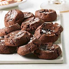 The recipe for these ultra-rich, cinnamon-laced cookies comes from the Fairmont Hotel in Chicago, which hosted a cookie swap. New Year's Desserts, Cute Desserts, Christmas Desserts, Christmas Baking, Christmas Cookies, Holiday Treats, Christmas Recipes, Mexican Desserts, Winter Desserts