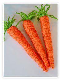 carottes laine paques