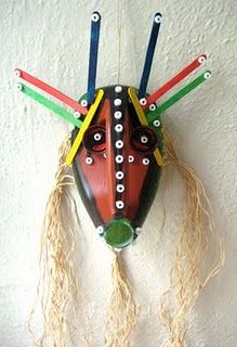 Recycled jugs turned into African Masks