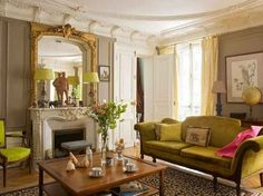 Chartreuse accents