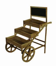 Wood Cart on Wheels