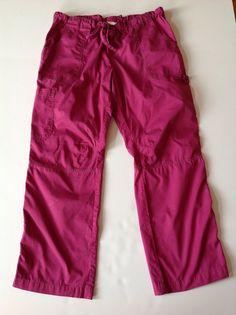 KOI Magenta Pink CARGO Scrub Pants Size XL #Koi