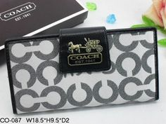 Chelsea Wallets 1930 Gray C Logo and White with Black Leather