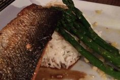 This recipe was submitted by Jessica Holland. #LocalDishTO It's dish that features salmon and asparagus served over coconut rice. Can-Asian Salmon with Spicy Sesame Garlic Asparagus. #loveONTfood