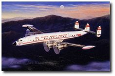 AVIATION ART HANGAR - Evening Star by Mike Machat (1049G Constellation)  More information at : http://www.mikemachatonline.com