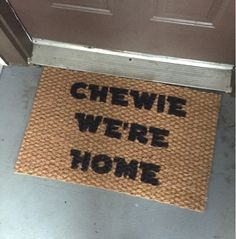 Oh So Lovely Handmade: DIY: Star Wars Inspired Door Mat