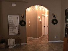 magical winter icicle hallway, foyer