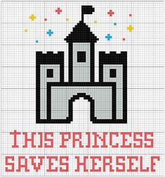 Pattern available on etsy =) #princess #crossstitch #girlie #giftsforgirls #embroidery #diy #stitchers #pontocruz #motivational #funny