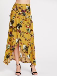 Shop Floral Print Warp Maxi Skirt online. SheIn offers Floral Print Warp Maxi Skirt & more to fit your fashionable needs.