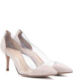 614d1c15958 GIANVITO ROSSI Plexi 70 suede pumps.  gianvitorossi  shoes   Stiletto Heels