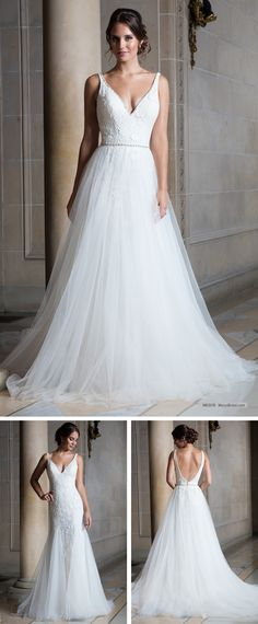 Tulle and embroidery mermaid wedding gown features floral lace appliques e48b087b679c