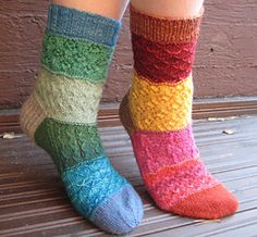 Ravelry: Mad Mix Socks pattern by Virpi Tarvo