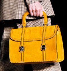 I always love a mustard yellow accessory- Mui Mui Fall 2012