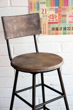 wood and iron rustic barstools - Google Search