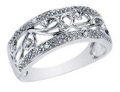 Okay...I have not gotten my actual wedding ring yet because we just have not had the money for it.  I would settle for this one....it is the style I love, and it is beautiful and affordable.  Hint hint