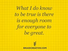 enough room for all creatives