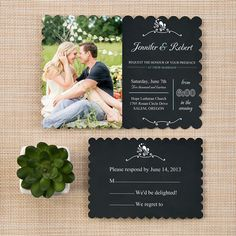 Rustic Wedding Invitations With Free Response Cards | - Part 6