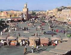 Chief city of central Morocco. The first of Morocco's four imperial cities, it lies in the centre of the fertile, irrigated Haouz Plain, south of the Tennsift River. The ancient...