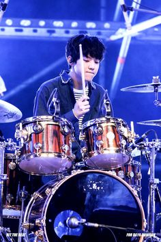Dowoon the drum Korean Bands, South Korean Boy Band, K Pop, Exo Red Velvet, Day6 Dowoon, Young K, Pop Rock, K Idols, Rock Bands