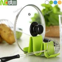 (NC) Wave Design Pot Lid Stand Cooking Spoon Holder Support Shelf Kitchen Utensils HLI-100990