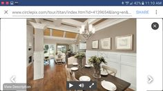 Like wainscoting on dining room wall and column And Wall color