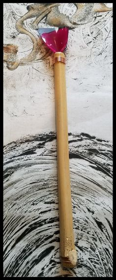 """Handmade Silicone """"HOT WAX"""" Paint Brush With 8 Inch Bamboo Handle and 2 Inch Wide Silicone Bristles"""