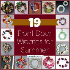 19 Summer Front Door Wreaths to Make   FaveCrafts.com