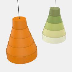 Pagoda #lamp #design Davide Dante Valerio. #lighting #foldable #3dprinting #flatpack #innovation #colorful