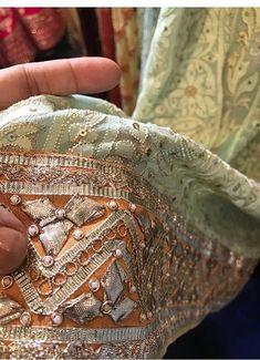 Chikankari with Gota Patti embroidery Embroidery Suits Punjabi, Zardozi Embroidery, Hand Embroidery Dress, Beaded Embroidery, Embroidery Designs, Shadi Dresses, Pakistani Formal Dresses, Pakistani Wedding Outfits, Pakistani Dress Design