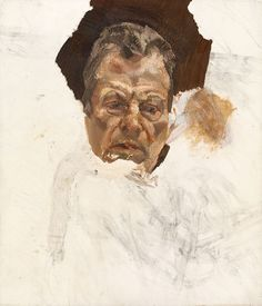 'Self-portrait' by Lucian Freud, c.1985 (unfinished)