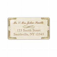 Vintage and Gold Address Labels
