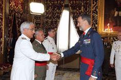 Encuentro del Rey Felipe VI con un grupo de generales de división y vicealmirantes. 15-09-2016