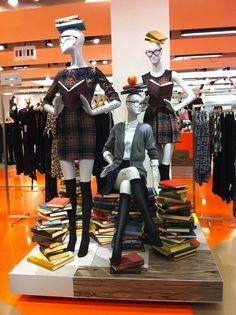 School Display, Mannequin Display, Fashion Display, Window Displays, Back To School Window Display, Visual Display, Retail Display, Visual Merchandising ...