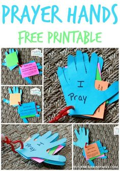 DIY prayer hands for kids - Teaching a child to pray on their own.   http://yourmodernfamily.com