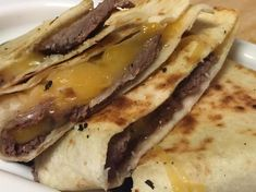 21 Day Fix Philly CheeseSteak Quesadillas