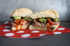 Pork and Avocado Sandwiches!! Yes please!